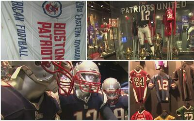 Un paseo único e íntimo por el museo de New England Patriots