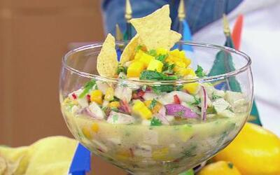 Rosie Rivera se metió a La Cocina de Karla a preparar Ceviche a los Dos...