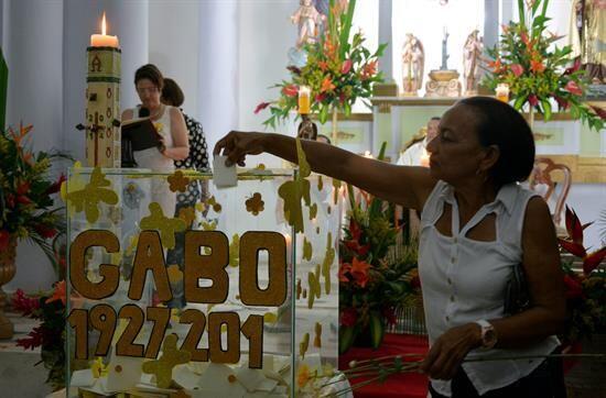 Los colombianos también honraron la memoria de Gabo.