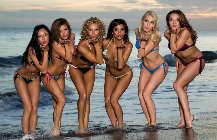 En el paraíso de la isla de Santa Lucía las cheerleaders de los Chiefs h...