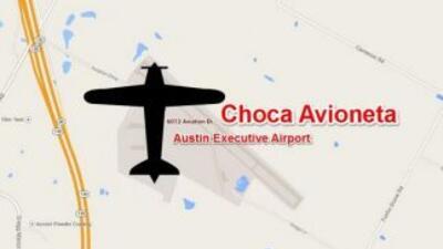 Avióneta se voltea en aeropuerto ejecutivo.