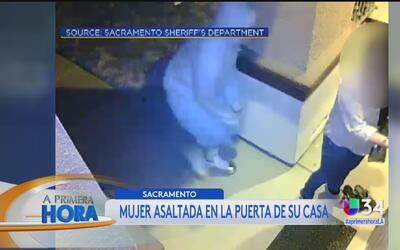 Ladrones atacaron a una mujer en la puerta de su propia casa