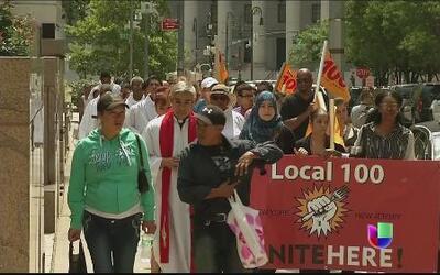 Manifestaciones en NY en apoyo a niños migrantes