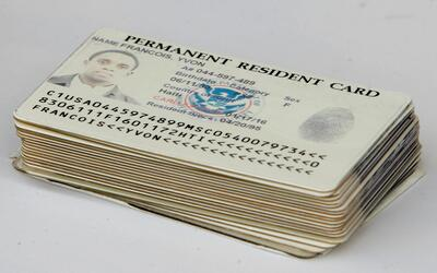 Tarjeta de residencia permanente en Estados Unidos (Green card).