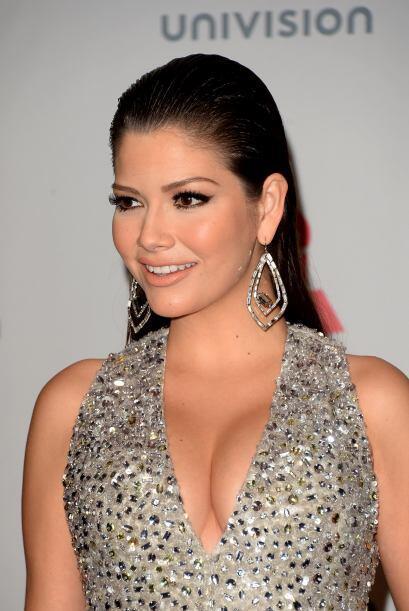 El vestido de Ana Patricia González ya tenía mucha pedrería, por lo que...