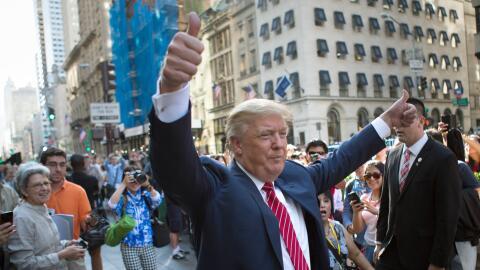 Precandidato presidencial republicano Donald Trump