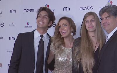 Lili Estefan recibió el apoyo de toda su familia y su gran amiga Thalía...