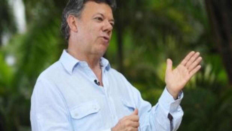 Juan Manuel Santos, presidente de Colombia, anunció que su gobierno mant...