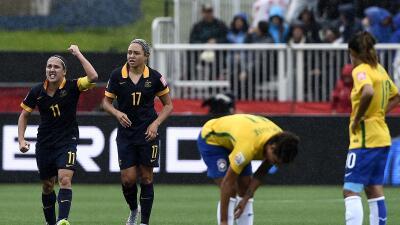 Kyah Simon anotó el único gol del partido.