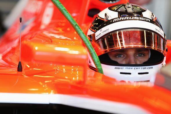 Max Chilton de Marussia, en busca de poner a punto su auto para eludir e...