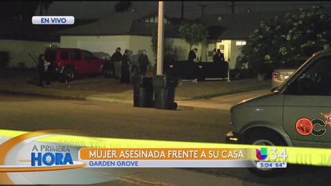 Buscan a responsable de asesinar a una mujer en Garden Grove