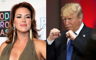 La ex Miss Universo Alicia Machado y el empresario Donald Trump.