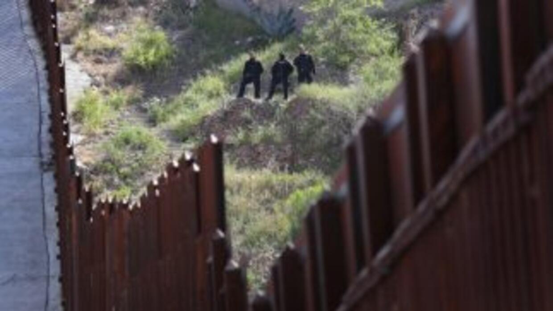 La frontera que divide a México y Estados Unidos.
