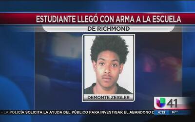 Estudiante llegó armado a la escuela