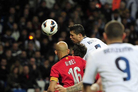 Primero fue Cristiano Ronaldo con este cabezazo.