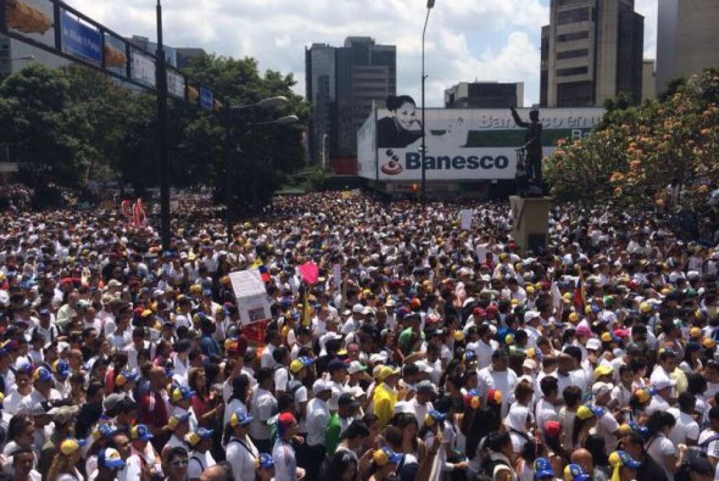 La zona en la que se ha convocado la manifestación en apoyo a Leopoldo L...