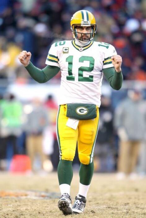 La figura del partido, el mariscal de los Packers Aaron Rodgers, logró c...