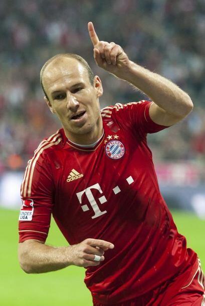 Robben volvió a concretar y tiene su 'doblete'. Bayern Munich gan...