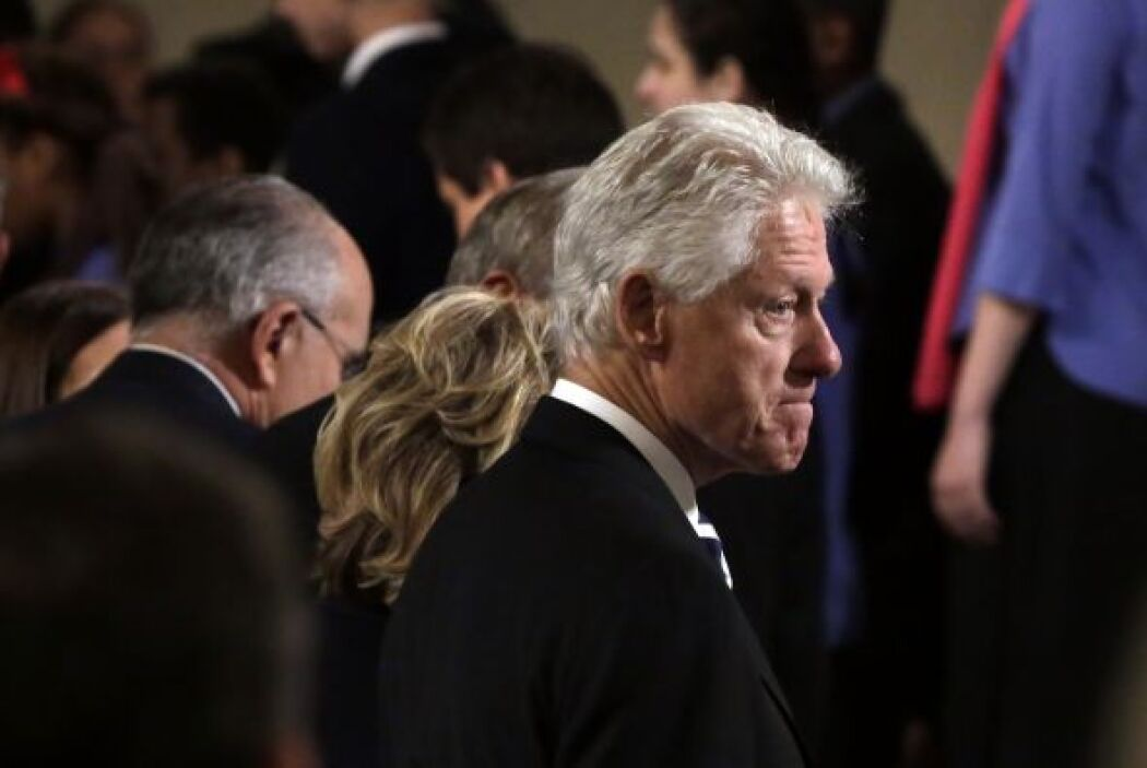 Bill Clinton estuvo entre los presentes.