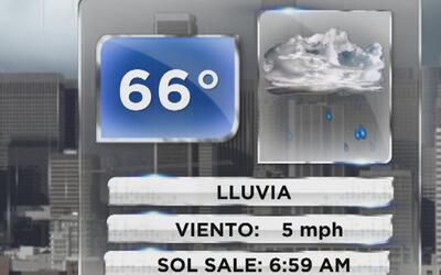 Lluvia, viento y cielo nublado este miércoles en Los Ángeles