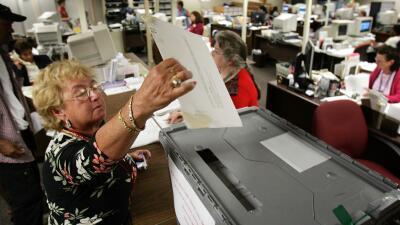 Personas votando Florida