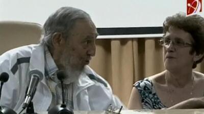 Fidel Castro volvió a mostrarse en público