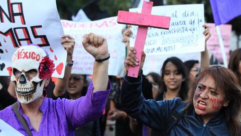 El Ángel de la Independencia de Ciudad de México fue el destino de una e...