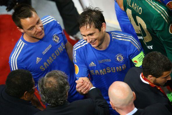 Frank Lampard fue de los futbolistas que recibieron más felicitaciones.