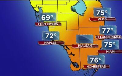 Tiempo: lunes fresco y con cielo parcialmente nublado en Miami