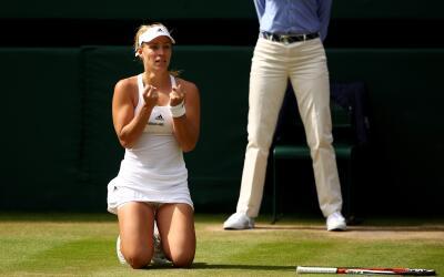 Kerber venció a Venus Williams en semis