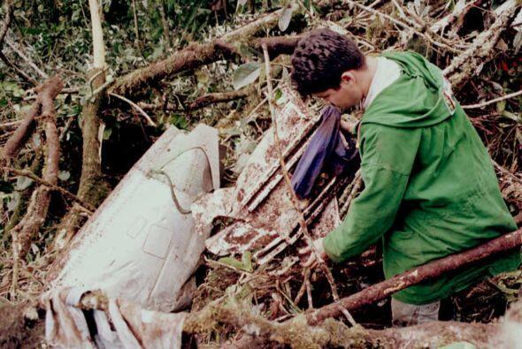 """9. Colombia, 1995 """" Avión se estrelló contra una mont..."""