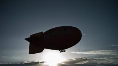 Los globos dirigibles, que están siendo probados cerca de la ciudad de R...