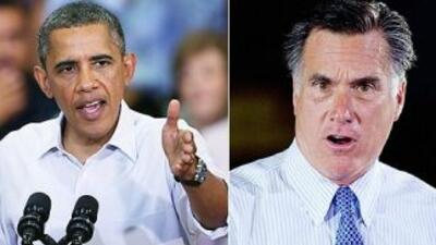 El Presidente Barack Obama y el virtual candidato presidencial republica...