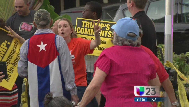 Visita de Donald Trump genera opiniones divididas en Miami
