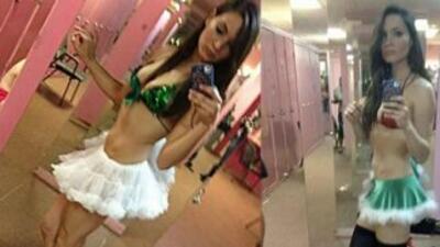 La reportera Sara Tressler trabajaba como 'stripper' por las noches. Fot...