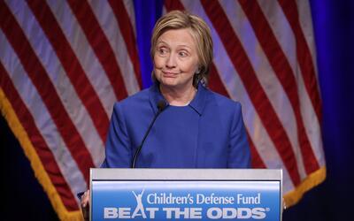 Así, sin maquillaje, lució Hillary Clinton en Washington,...