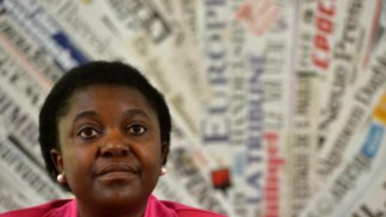 La ministra Cecile Kyenge fue víctima de agresiones verbales.