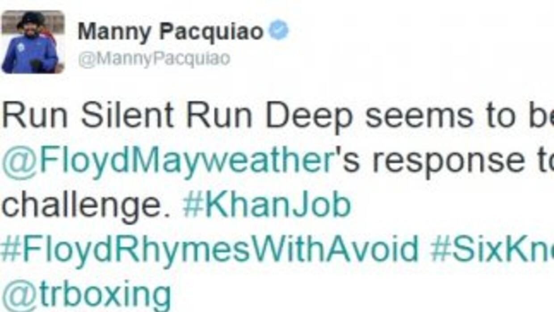 Pacquiao no tardó en responder a Mayweather Jr.