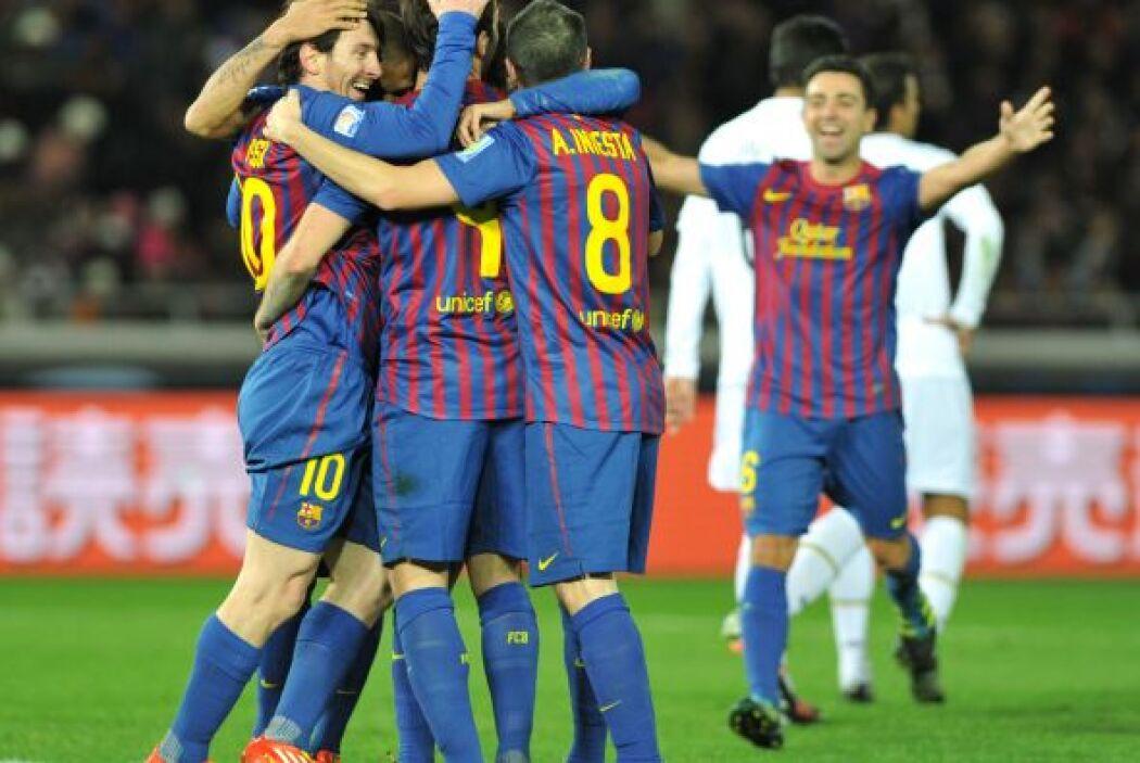 El Santos sufría la total superioridad del Barcelona.