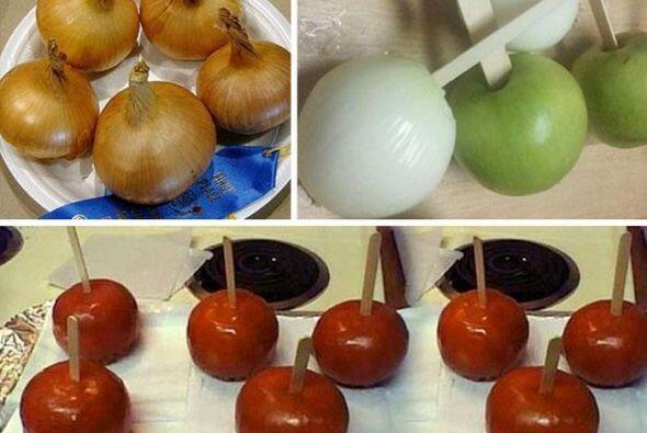 Esto es una broma muy creativa! De verdad parecen manzanas!   Foto cred...
