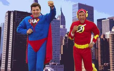 Los Superhéroes con sus súper chistes