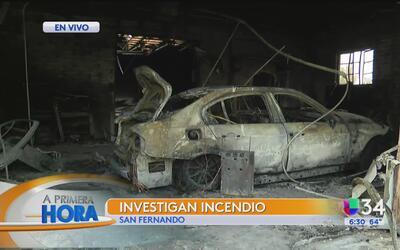 Se registra un incendio en un taller mecánico en San Fernando