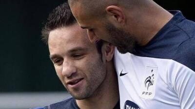 Valbuena y Benzema en la foto de Facebook