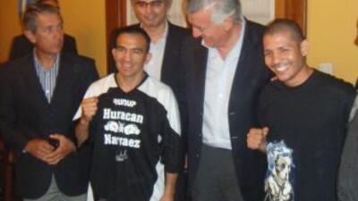 Narváez y Cabrera dieron conferencia de prensa en Argentina (Foto: HG Bo...