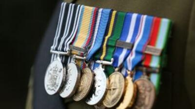 Un total de 11 medallas y reconocimientos militares fueron entregados po...
