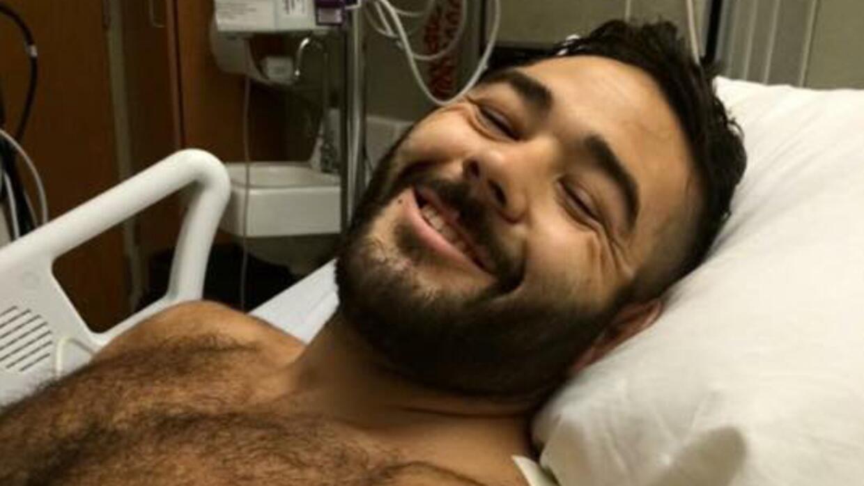 Chris Mintz en el hospital