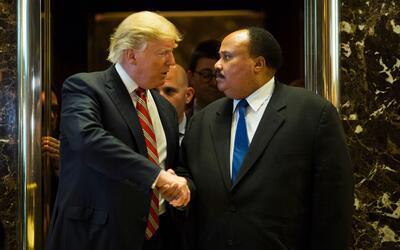 """Hijo de Martin Luther King sobre la disputa entre Trump y Lewis: """"Hay qu..."""