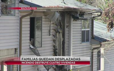 Familias desplazadas por incendio en Fulton