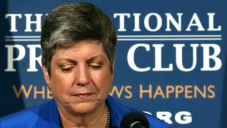 Janet Napolitano, saliente Secretaria del Departamento de Seguridad Naci...
