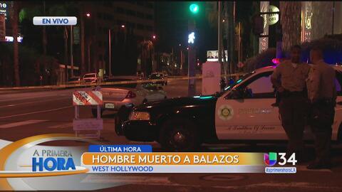 Investigan tiroteo en West Hollywood